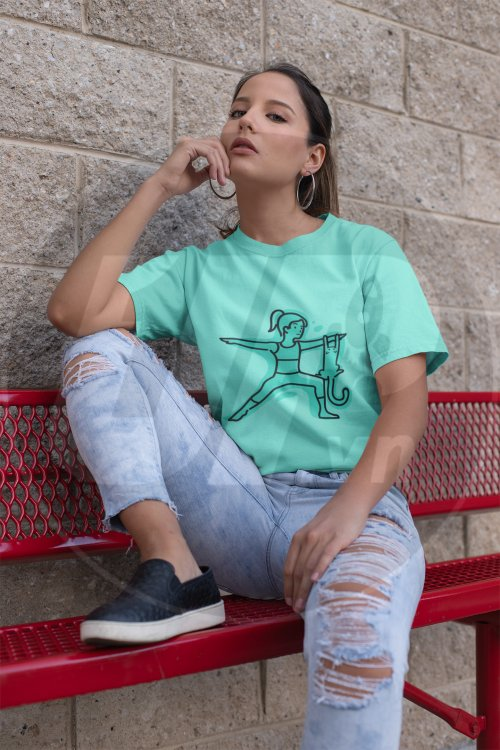 mockup-of-a-trendy-woman-wearing-a-unisex-tee-and-distressed-jeans-23038.