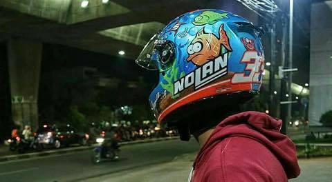 Moto299 nolan N64 Aqua blue du huong cua bien ca - 3
