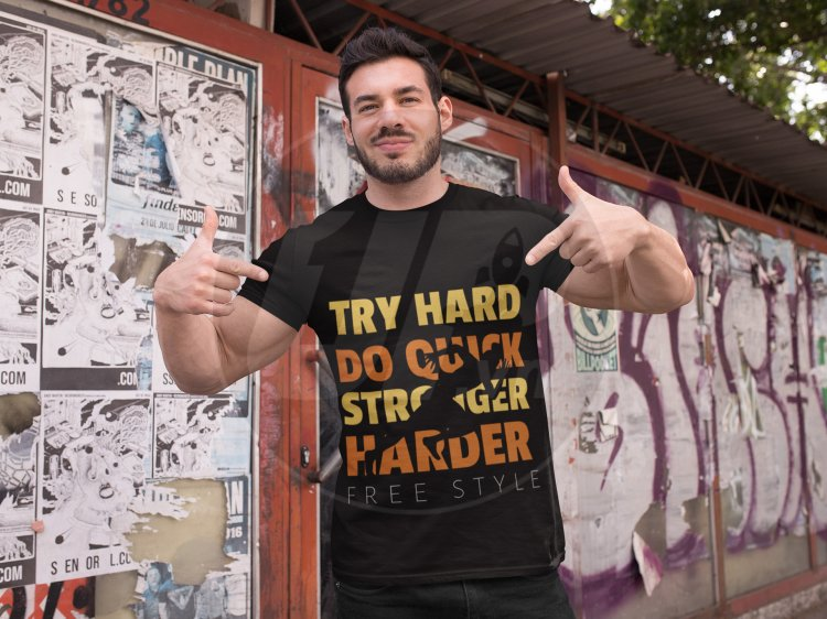 t-shirt-mockup-of-a-fitness-man-posing-against-a-wall-with-posters-28526.